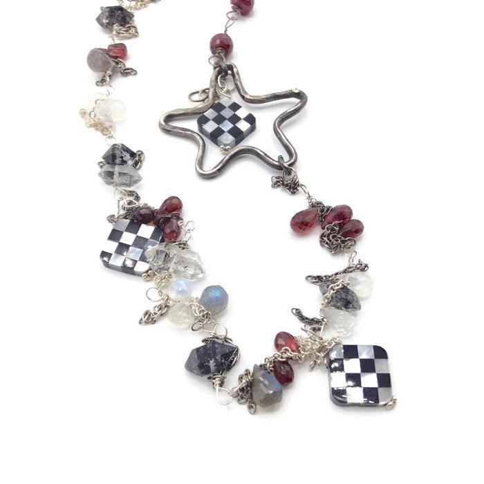 Checkered Starfish Necklace - Van Der Muffin's Jewels - 4