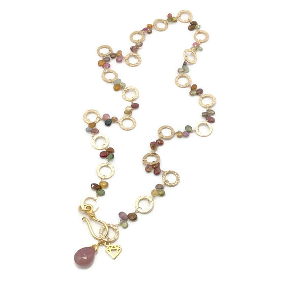 Golden Sapphire Necklace - Private Commission - Van Der Muffin's Jewels - 2