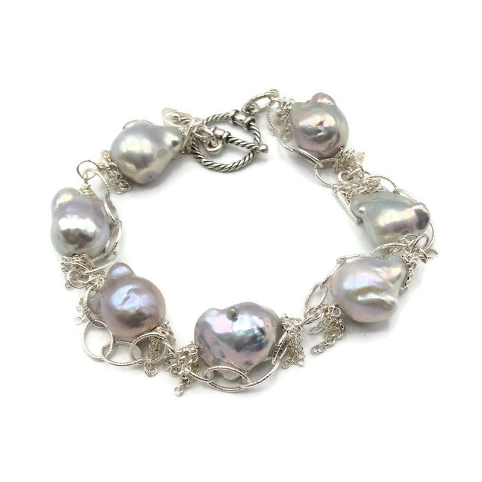 Fringed Pearl Bracelet - Van Der Muffin's Jewels - 1