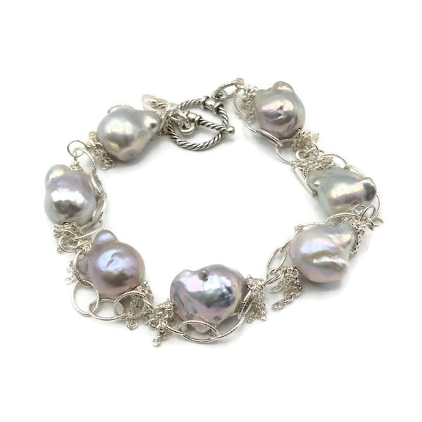 Fringed Pearl Bracelet - Van Der Muffin's Jewels