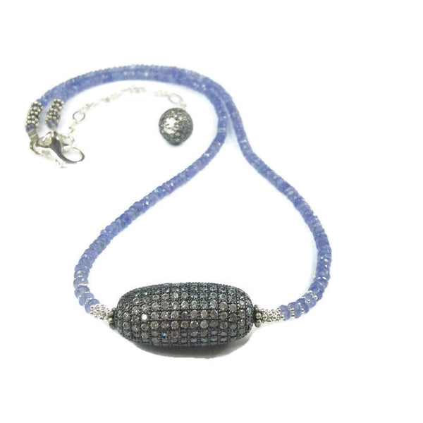 Tanzanite Beaded Necklace - Van Der Muffin's Jewels - 5