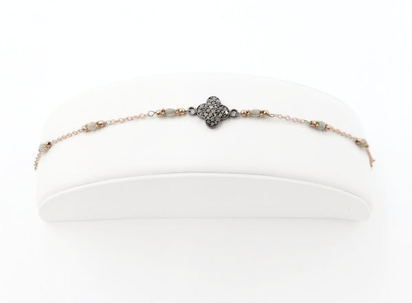 Diamond Clover Bracelet - Van Der Muffin's Jewels - 4
