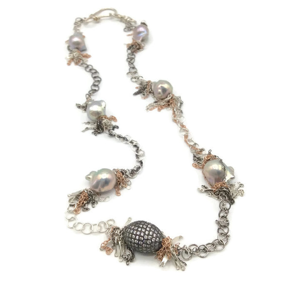 Fringed Pearl Necklace - Van Der Muffin's Jewels - 5