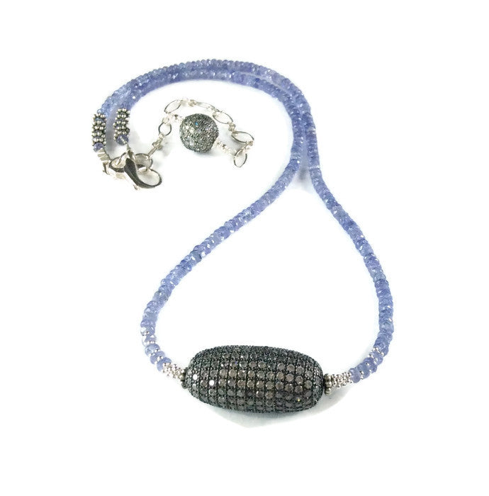 Tanzanite Beaded Necklace - Van Der Muffin's Jewels - 1