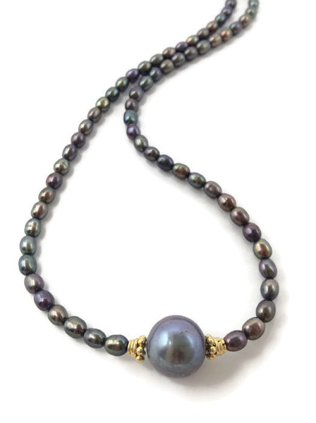 Luminous Grey Pearl Choker - Van Der Muffin's Jewels - 2