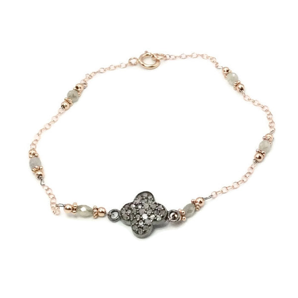 Diamond Clover Bracelet - Van Der Muffin's Jewels - 3