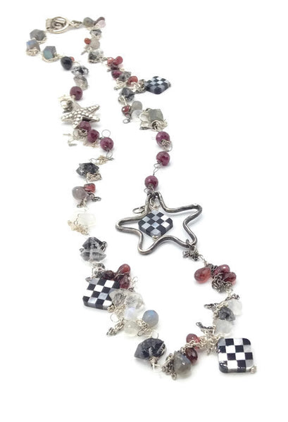 Checkered Starfish Necklace - Van Der Muffin's Jewels - 1