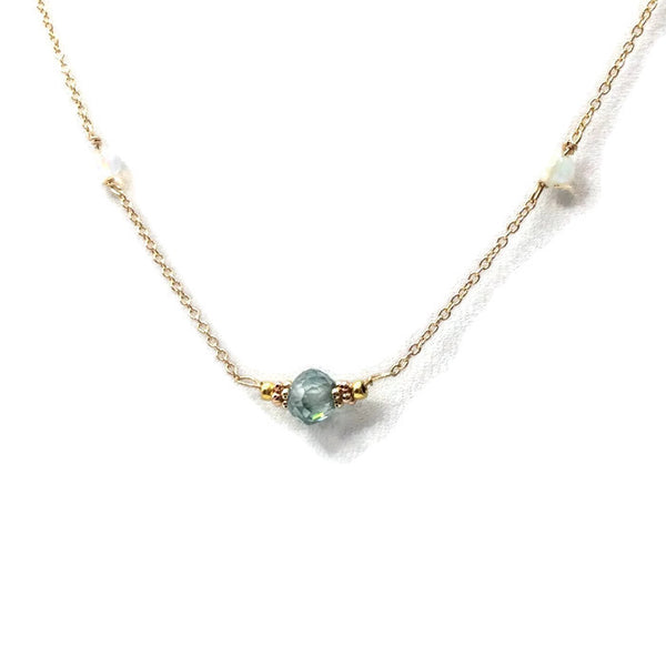 Diamond Station Necklace - Van Der Muffin's Jewels - 4