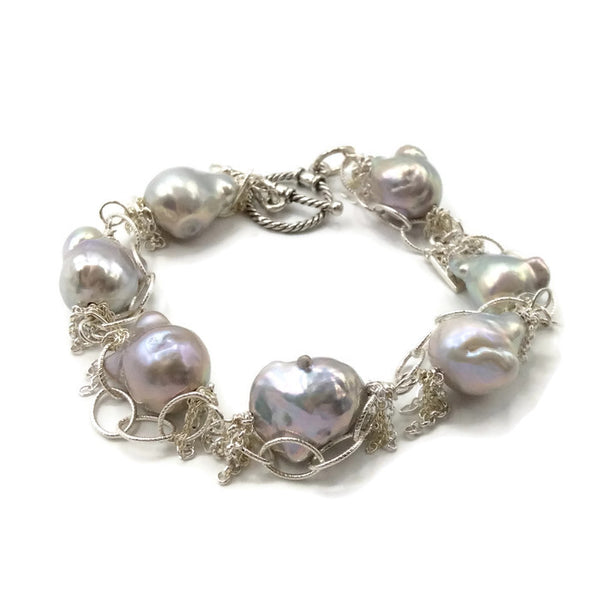 Fringed Pearl Bracelet - Van Der Muffin's Jewels - 2