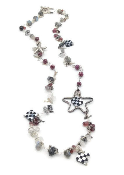 Checkered Starfish Necklace - Van Der Muffin's Jewels - 2