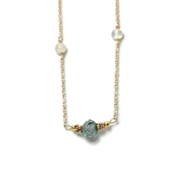Diamond Station Necklace - Van Der Muffin's Jewels - 5