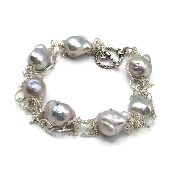 Fringed Pearl Bracelet - Van Der Muffin's Jewels - 5
