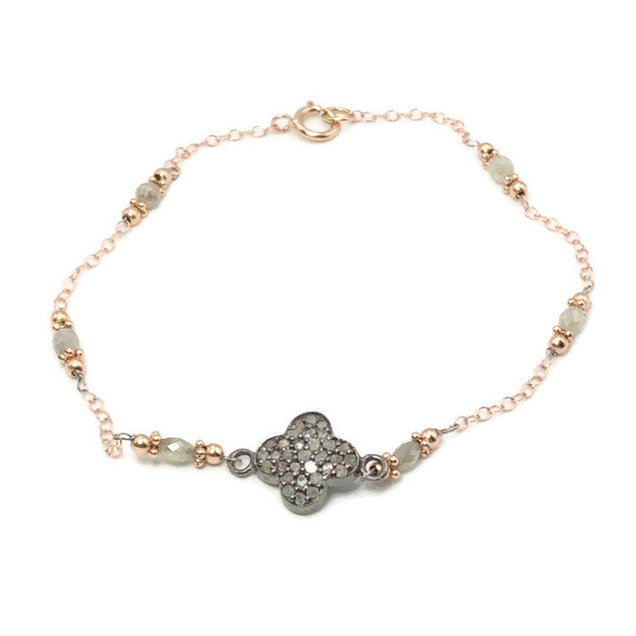 Diamond Clover Bracelet - Van Der Muffin's Jewels - 1