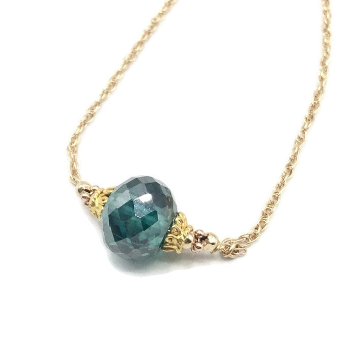 Fancy Blue Diamond Necklace