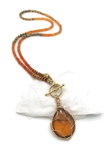 Sunset Toggle Necklace - Van Der Muffin's Jewels - 4