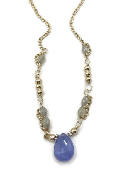 Diamond Beaded Tanzanite Necklace - Van Der Muffin's Jewels - 5