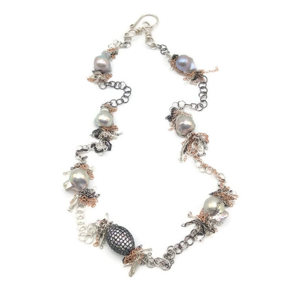 Fringed Pearl Necklace - Van Der Muffin's Jewels - 6
