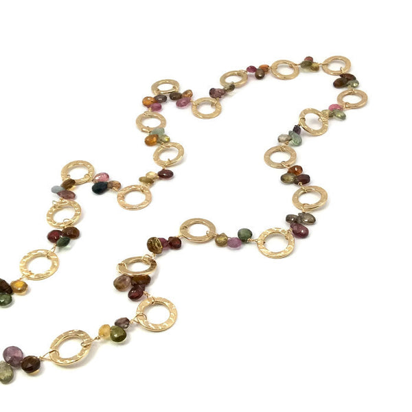 Golden Sapphire Necklace - Private Commission - Van Der Muffin's Jewels - 5