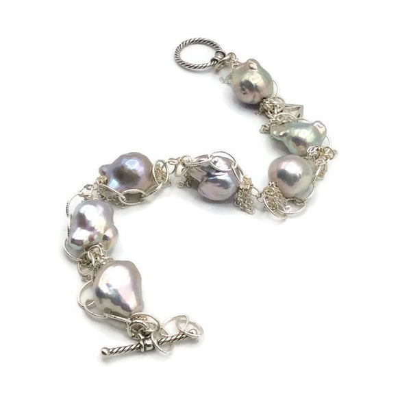 Fringed Pearl Bracelet - Van Der Muffin's Jewels - 6