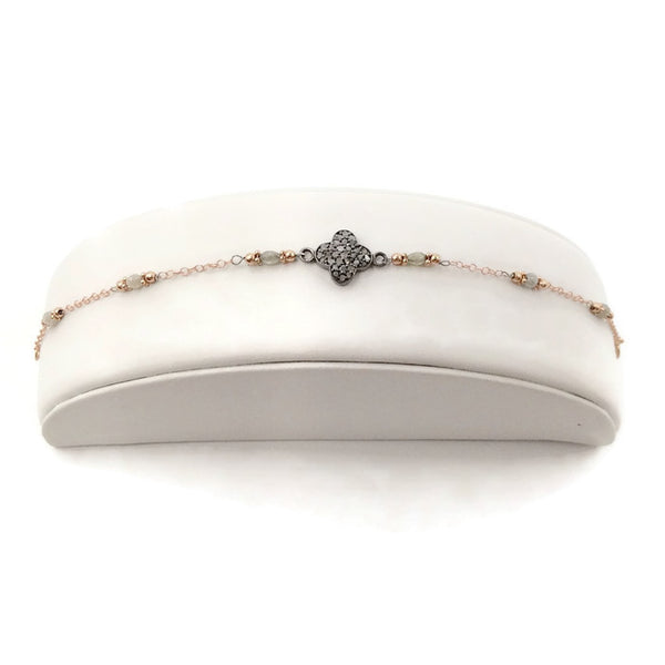 Pave Diamond Clover Bracelet - Van Der Muffin's Jewels - 4