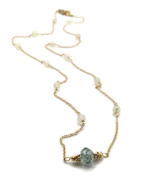 Diamond Station Necklace - Van Der Muffin's Jewels - 2