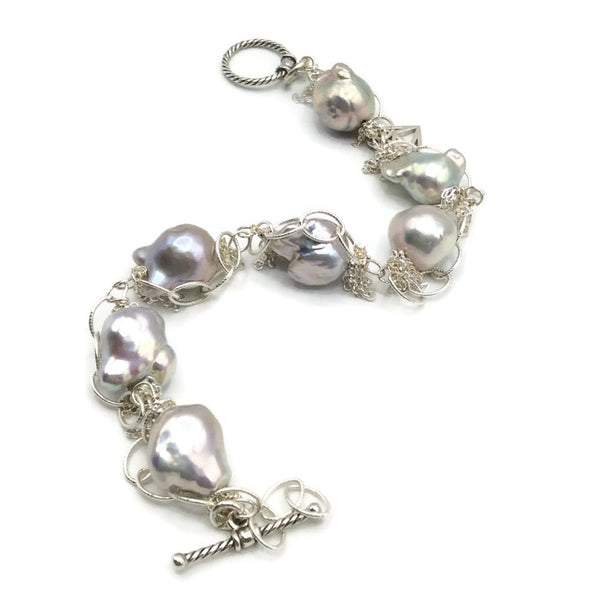 Fringed Pearl Bracelet - Van Der Muffin's Jewels - 7