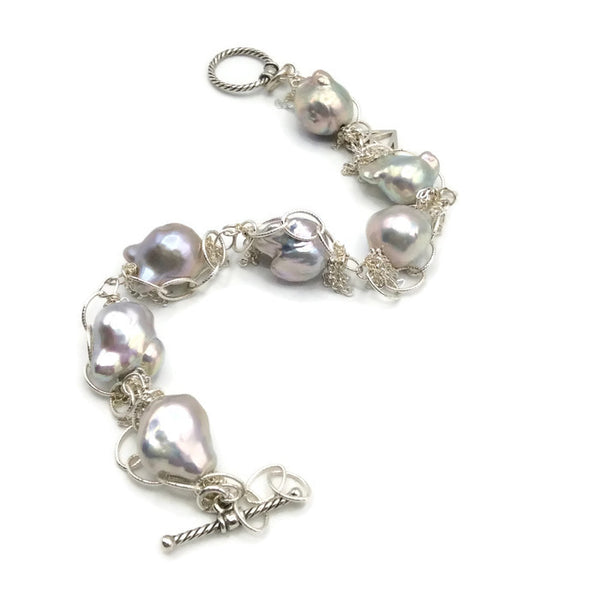 Fringed Pearl Bracelet - Van Der Muffin's Jewels - 8