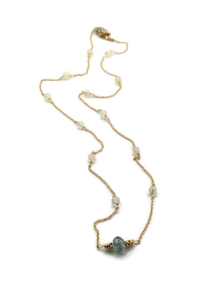 Diamond Station Necklace - Van Der Muffin's Jewels - 9