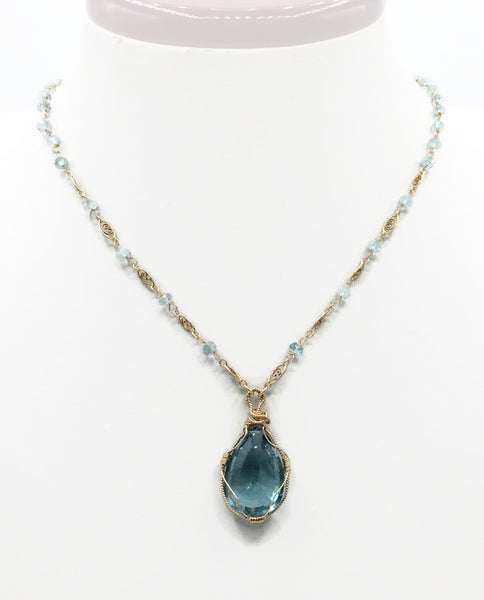 Swiss Blue Topaz Necklace - Van Der Muffin's Jewels - 5