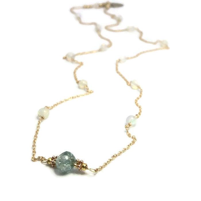 Diamond Station Necklace - Van Der Muffin's Jewels - 1