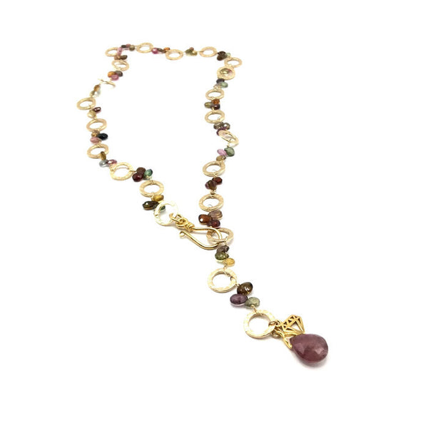 Golden Sapphire Necklace - Private Commission - Van Der Muffin's Jewels - 7