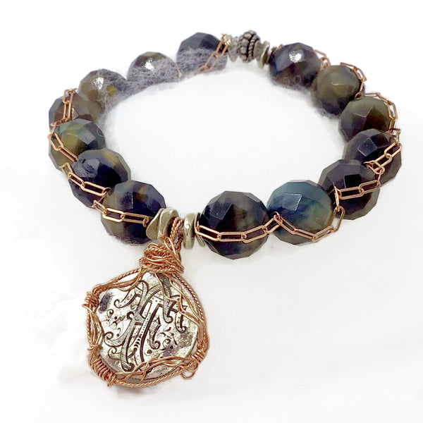 Tiger's Eye Victorian Love Token Bracelet { T | F }