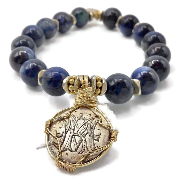 Blue Kyanite Victorian Love Token Bracelet  { M | R | V }