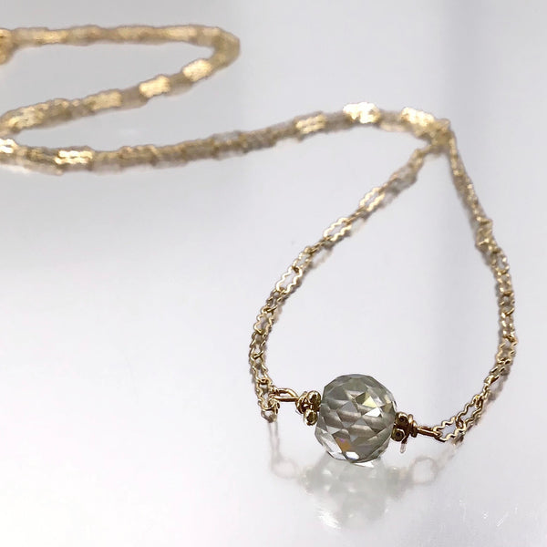 Champagne Diamond Choker Necklace