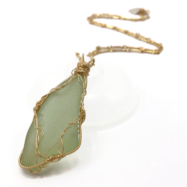 Citron Hampton's Sea Glass Pendant Necklace