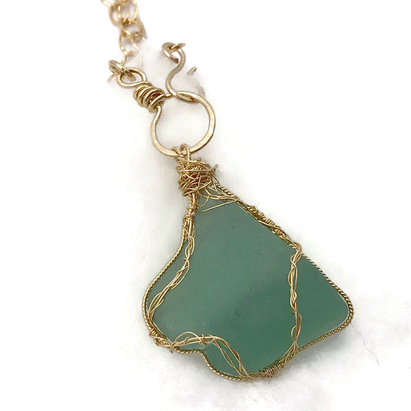 Teal Blue Hampton's Sea Glass Choker