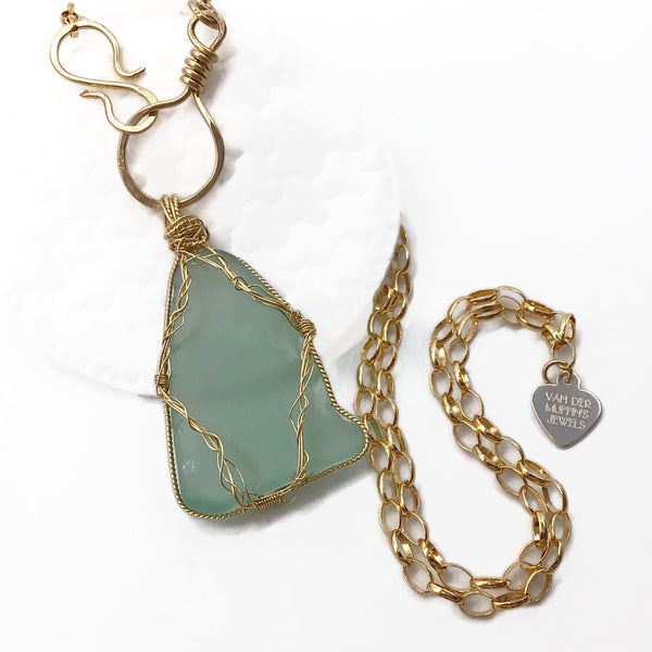 Seafoam Green Hampton's Sea Glass Necklace