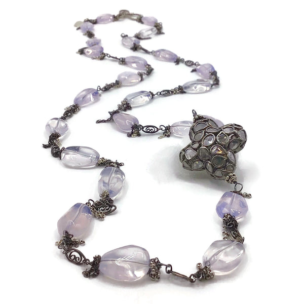 lilac scapolite necklace
