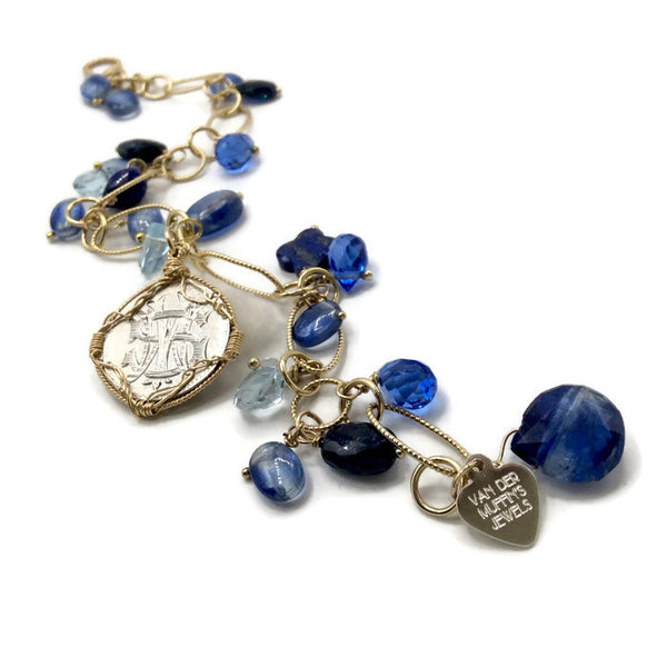 Antique Love Token Charm Bracelet
