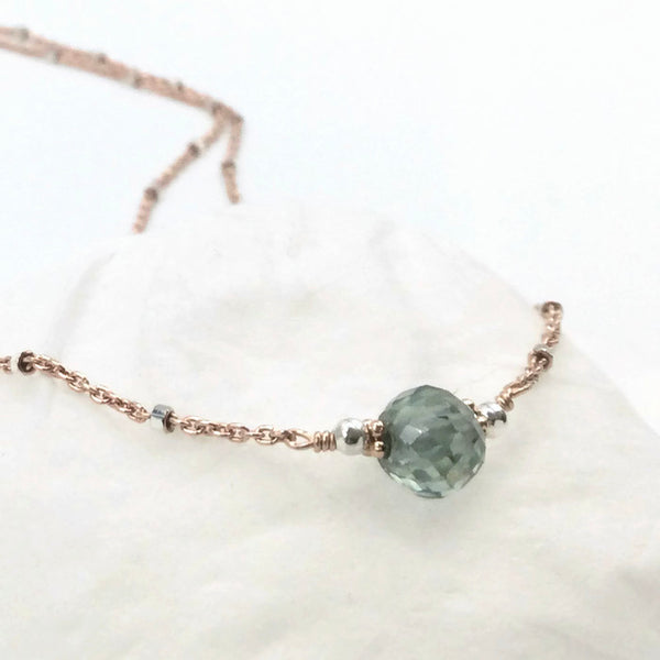 1.5 Carat Delicate Blue Diamond Necklace