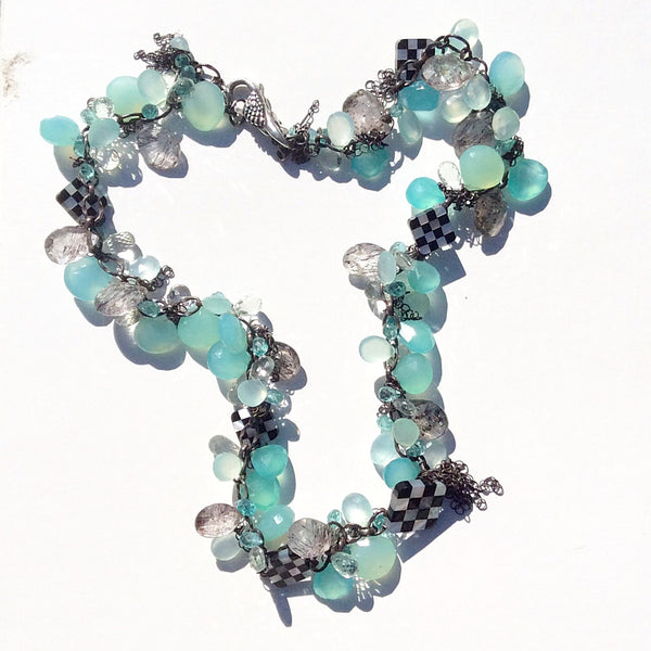 Checkered Cluster Necklace - Van Der Muffin's Jewels - 5