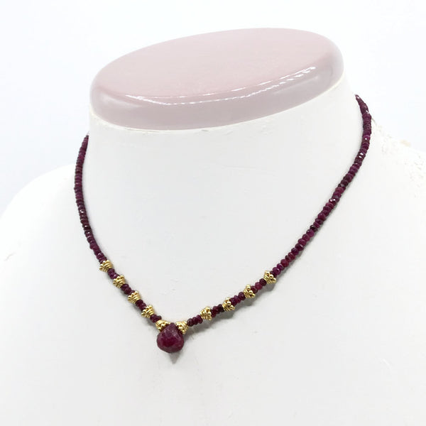 Natural Ruby Choker Necklace