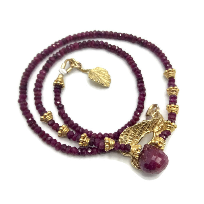 Natural Ruby Choker Necklace - Van Der Muffin's Jewels