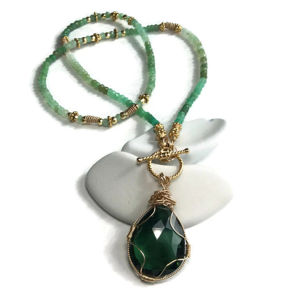 Green Aventurine Toggle Necklace - Van Der Muffin's Jewels - 5
