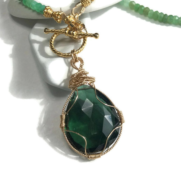Green Aventurine Toggle Necklace - Van Der Muffin's Jewels - 4