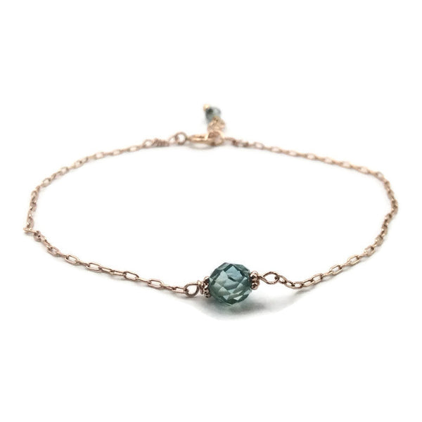 *1.2 Carat Blue Diamond Bracelet ~ 14K Rose Gold