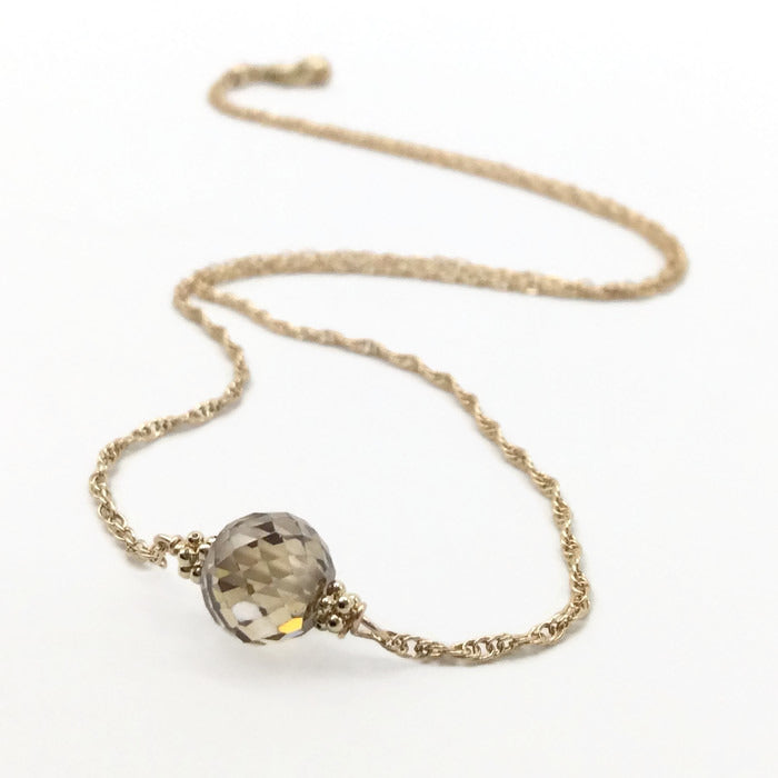 2 Carat Fancy Diamond Necklace In 14k Gold