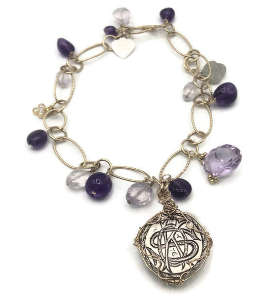 Royal Amethyst Antique Love Token Bracelet - Van Der Muffin's Jewels