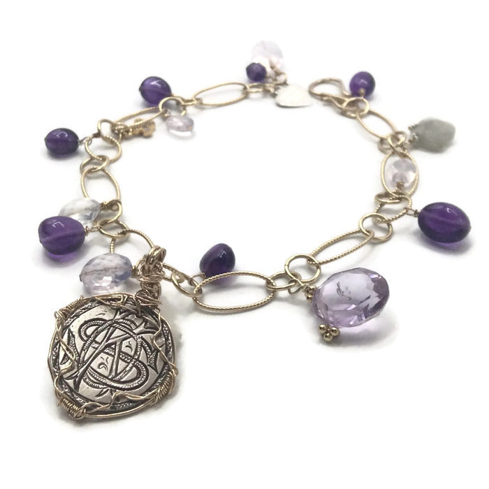 Royal Amethyst Antique Love Token Bracelet