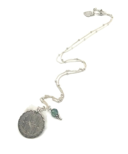 Antique Diamond Love Token Necklace - Van Der Muffin's Jewels
